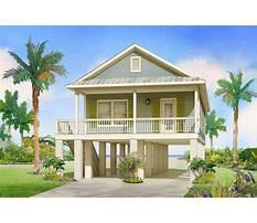 Small beach house plans on stilts Plan