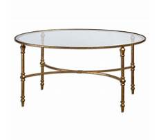 Small brass and glass coffee tables Plan