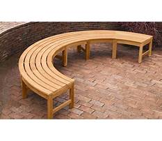 Small curved outdoor bench Plan