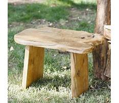 Small decorative wooden bench Plan