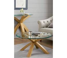 Small modern glass end tables Plan