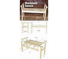 Small sitting bench Plan