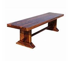 Small wooden bench indoor Plan