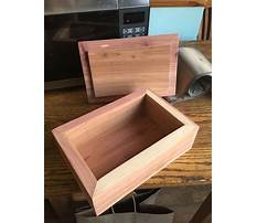 Small wooden box project plans Plan