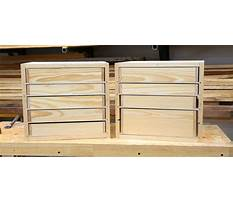 Small workshop drawers Plan
