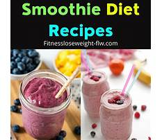 Smoothie diet plan weight loss uk Plan