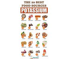 Sources for potassium in diet Plan