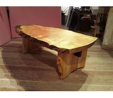 Spalted maple coffee table Plan