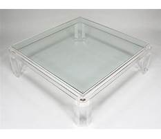Square lucite coffee tables Plan