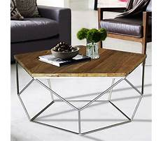 Stainless steel coffee table with revlaimed elm wood top Plan