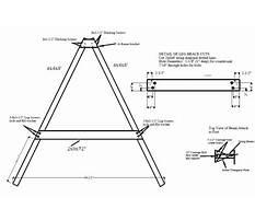 Steel a frame swing set Plan
