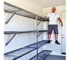 Steel shelves for the garage Plan