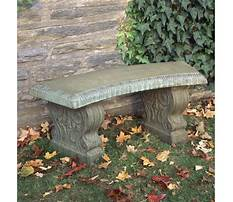 Stone garden bench Plan