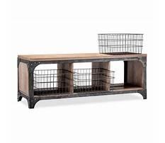 Storage bench with baskets target Plan