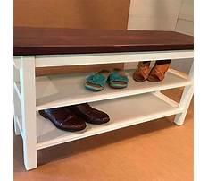 Storage bench with shoe storage Plan