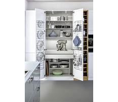 Storage cabinets for kitchen appliances Plan