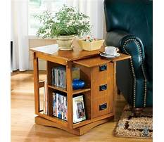 Storage end table with doors Plan