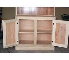 Storage shelves plans with doors Plan