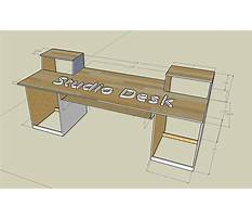 Studio desk diy plans Plan