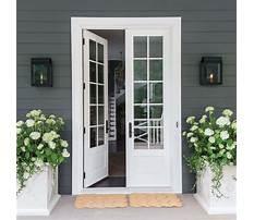Swing patio doors screens Plan
