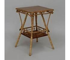Tan bamboo end table Plan