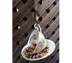 Tea cup bird feeders handmade Plan