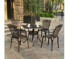 Terrace table and chairs for your home Plan