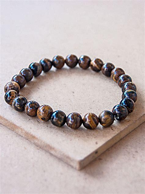Tiger Eye Bead Bracelet From Nepal