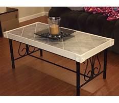 Tile coffee table ideas Plan