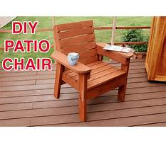 Timber deck chairs Plan