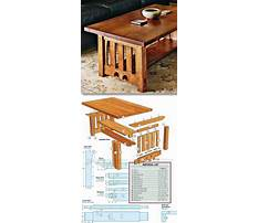 Tips for building a coffee table Plan