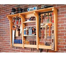 Tool rack wall mounted Plan