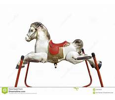 Toy hobby horse on springs Plan