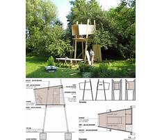 Tree house construction details Plan