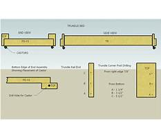Trundle bed patterns free Plan