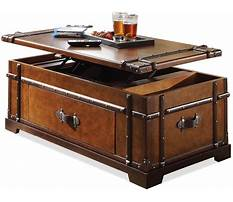 Trunk chest coffee table Plan