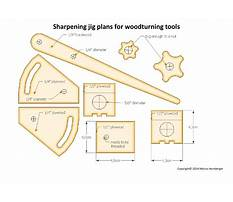 Turning tool sharpening jig Plan