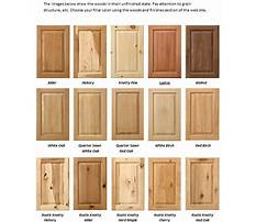Types of wood cabinet finishes Plan