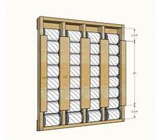 Vertical can storage rack plans Plan