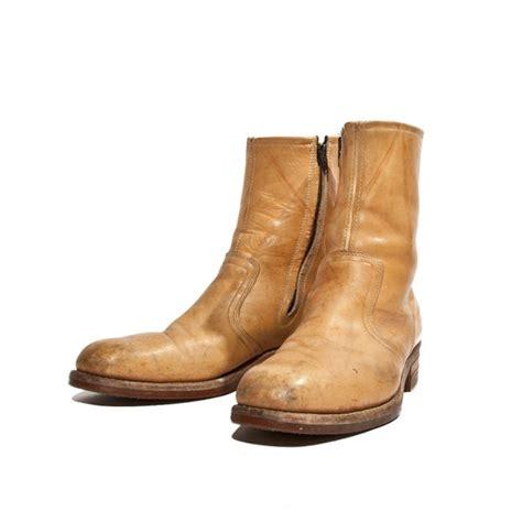 Vintage Boots Men Zipper Front