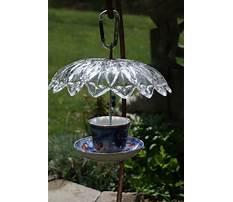 Vintage glass hanging bird feeders Plan