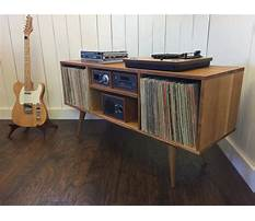 Vintage record player end table cabinet Plan