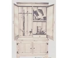 Vintage wood gun cabinet Plan