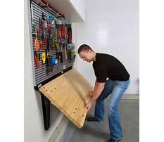 Wall mounted fold away workbench Plan