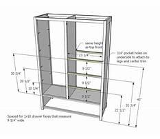 Wardrobe cabinet making Plan