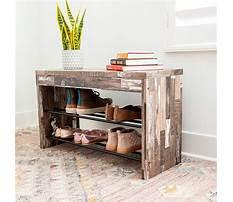 Weathered wood shoe bench Plan