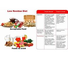 What is a soft low residue diet Plan