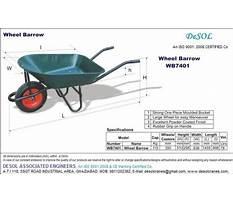 Wheelbarrow size standard Plan