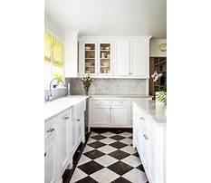 White kitchen tile flooring Plan
