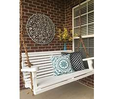 White porch swings with rope Plan